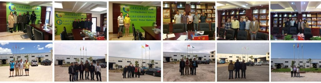 JXSC Mine Machinery Factory Customers