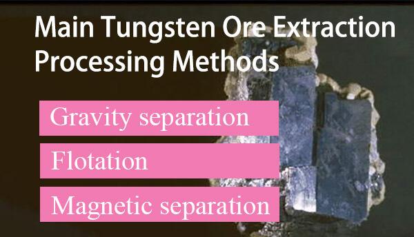 wolframite-Scheelite-tungsten mineral processing flow