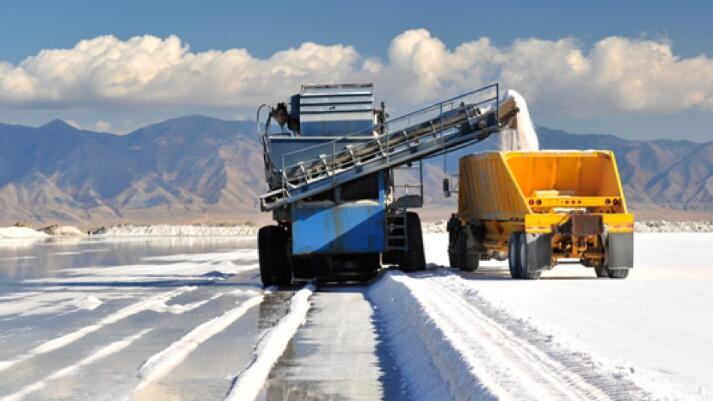 Salt mining process